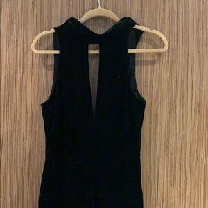 Top shop Velvet jumpsuit